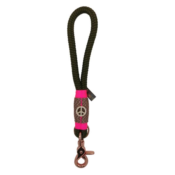 Mini Schlüsselband: Hippie Olive meets Pink 1