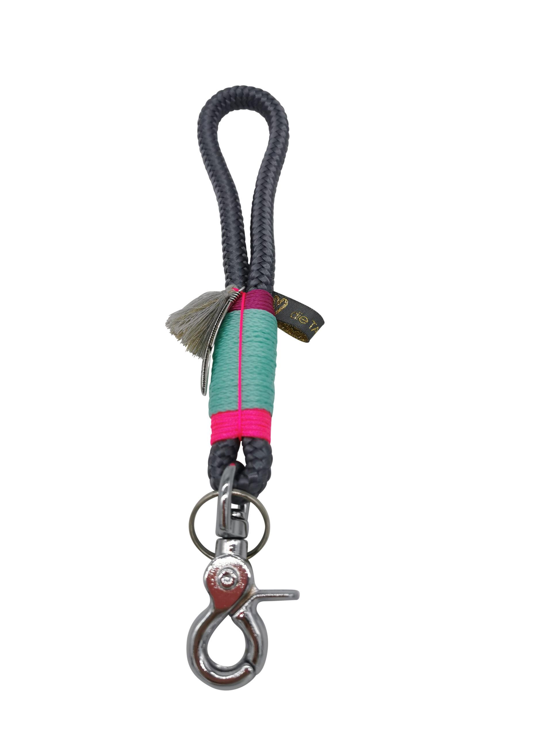 Mini Schlüsselband: Ibiza Neon Grey